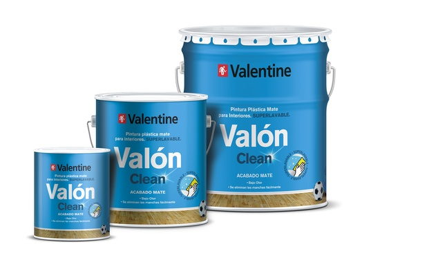 pintura superlavable valon clean valentine