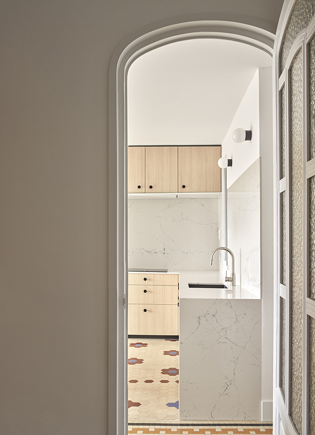 Vista de la cocina, realizada por Cupra
