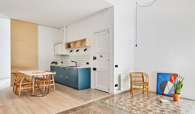Casa Eixample con suelos hidráulicos y cocina IKA Cubro