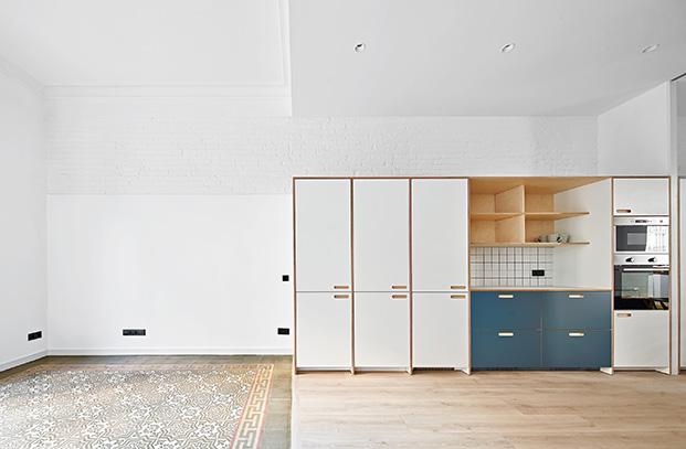 La cocina esta realizada por Cubro que personaliza los modelos de Ikea