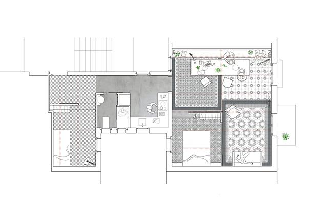 planos del apartamento del Eixample