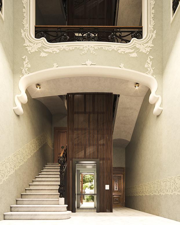 Interiores de la Casa Alesan en Barcelona rehabilitada por Bach Arquitectes
