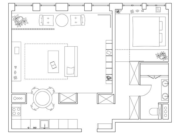 Casa Moscú СХЕМА plano diariodesign