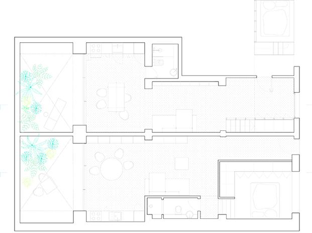 casa burr plano planta diariodesign