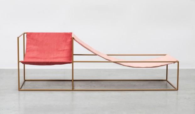 tumbona y asiento Duo Seat fabric de Muller Van Severen