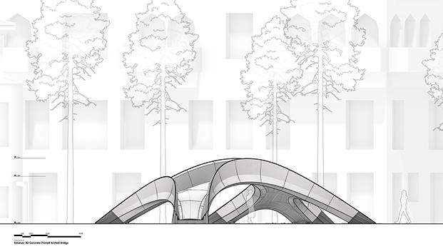 Puente 3D. Venecia inaugura 'Striatus', el primer puente arqueado de hormigón impreso en 3D. Zaha Hadid Architects Computation and Design Group (ZHACODE)