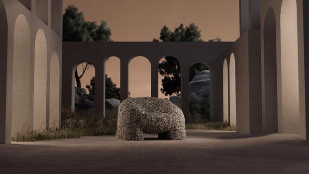 The Hortensia Armchair. Moooi. Andrés Reisinger. Júlia Esqué. Butaca de flores rosa
