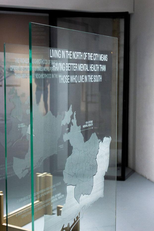 Instalación 730 horas de violencia, de Domestic Data Streamers. Hasta 30 de septiembre de 2021 en Mutuo Centro de Arte, Barcelona.