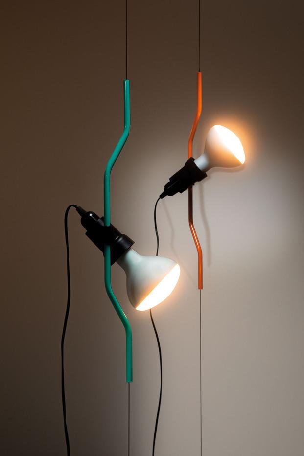Parentesi Special Edition. 50 aniversario lampara Parentesi Achille Castiglioni y Pio Manzù. Flos. Milan Design Week.