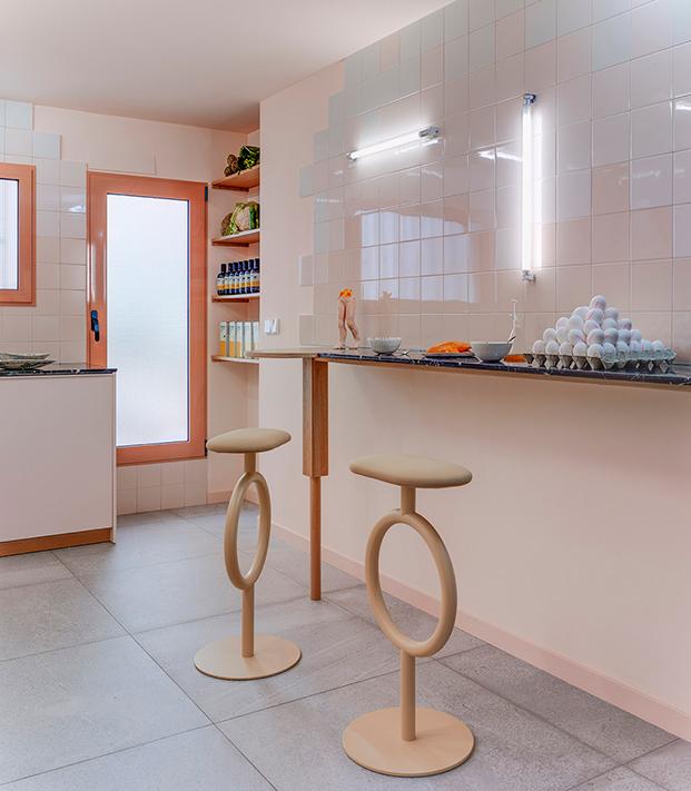 Estudio Numero 26 reforma antiguas oficinas Electrofil en vivienda. Cocina