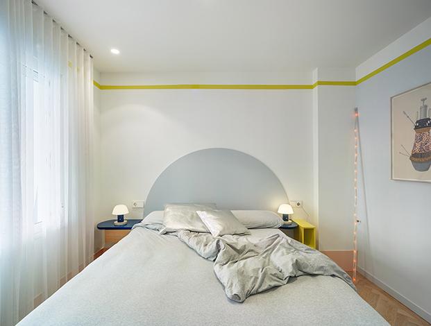Estudio Numero 26 reforma antiguas oficinas Electrofil en vivienda. Dormitorio