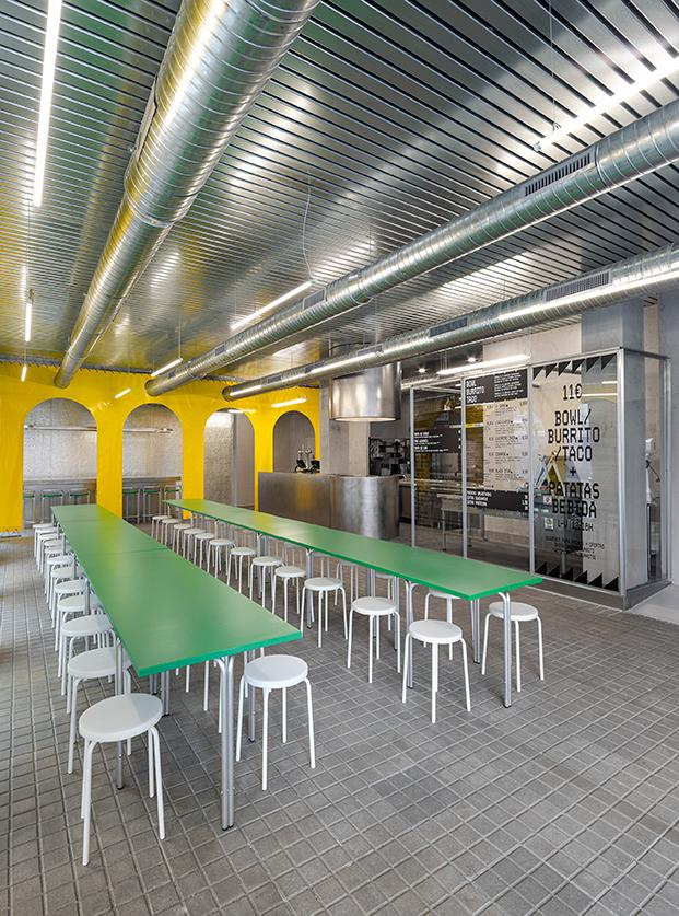 Restaurante mexicano Brutal Burrito en Madrid por estudio BURR